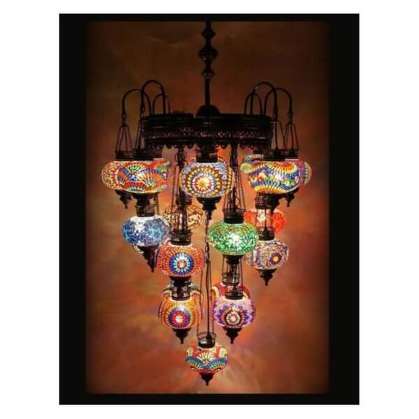 Orientalische Lampe Multicolour 21 Kugeln