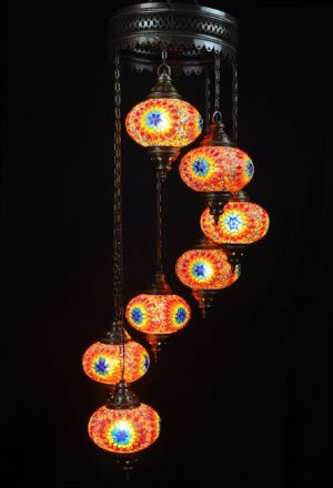Türkische Lampe Multicolor