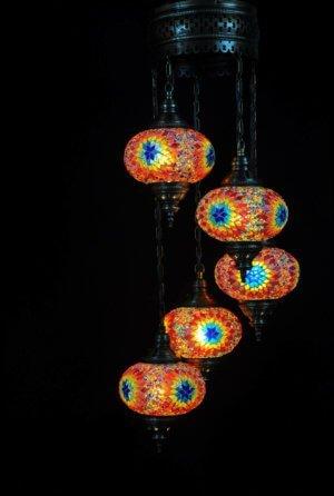 Orientalische Lampe Multicolor