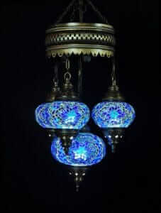 Orientalische Lampe blau 4 Kugeln - Oriental Plaza