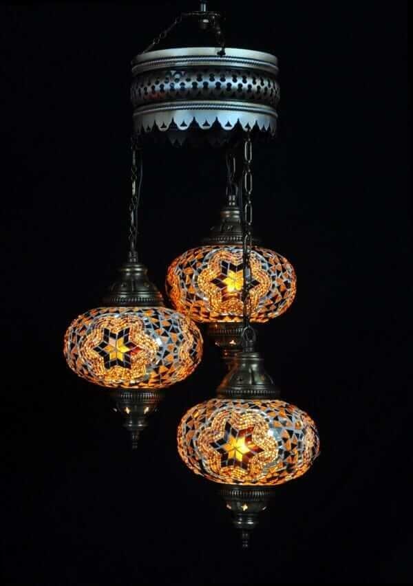 Orientalische Lampe Braun 3 Kugeln einfach und bequem kaufen