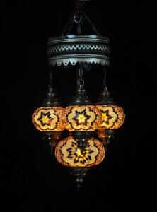 Orientalische Lampe braun 4 Kugeln - Oriental Plaza