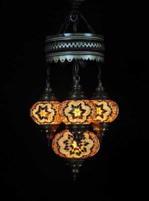Orientalische Lampe Braun 4 Kugeln einfach und bequem kaufen