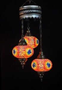 Orientalische Lampe multicolour 3 Kugeln - Oriental Plaza