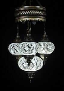 Orientalische Lampe weiss 4 Kugeln - Oriental Plaza