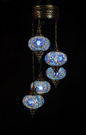 Orientalische Lampe Blau