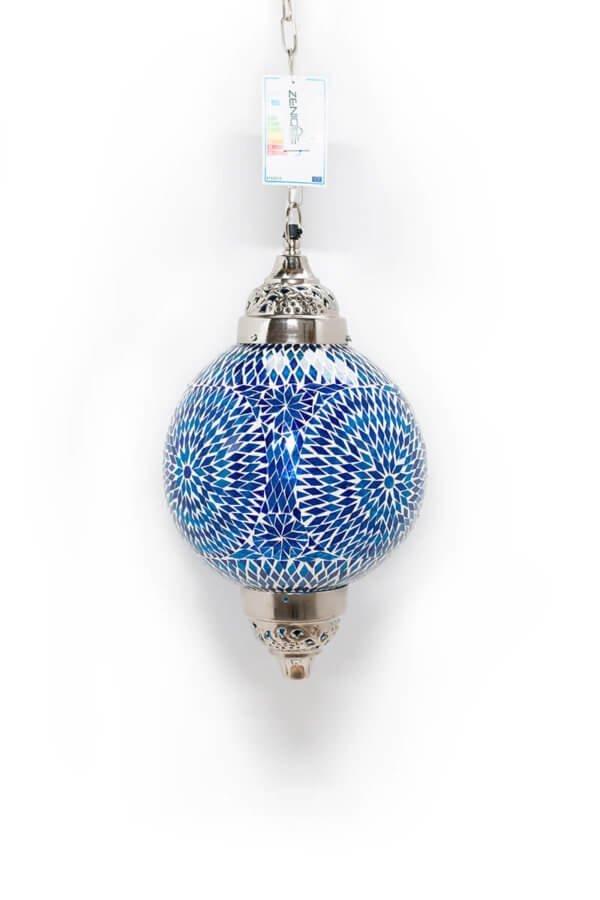 Mosaik Lampe Blau Mumbai