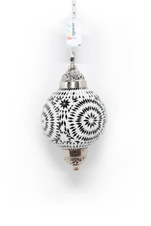 Mosaik Lampe Schwarz & Weiss Mumbai