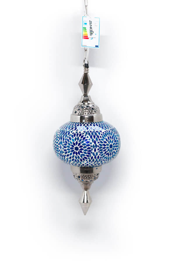Mosaik hängelampe Blau Gaya