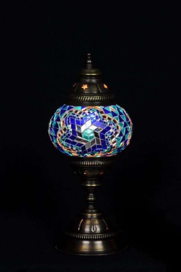 Türkische Tischlampe Blau