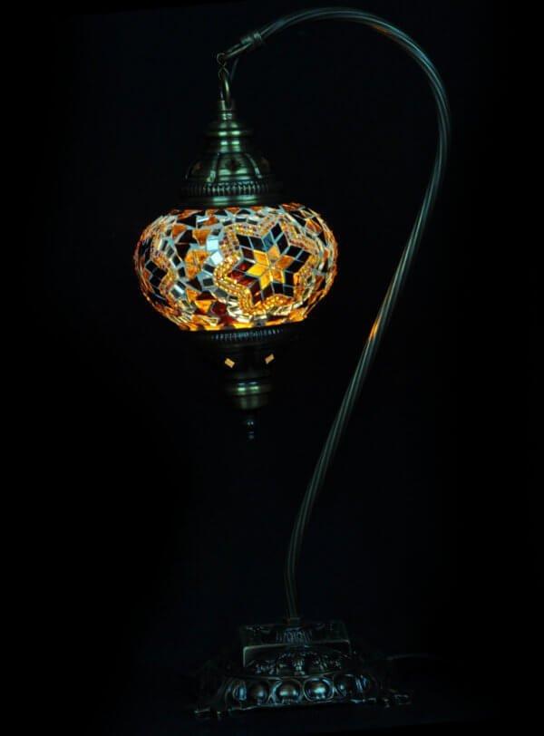 Türkische Tischlampe Bogen Braun