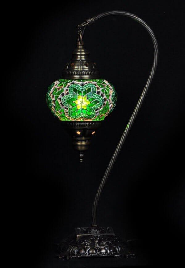 Türkische Tischlampe Bogen Grün