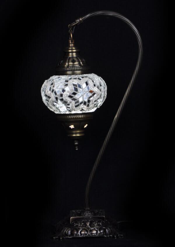 Türkische Tischlampe Bogen Weiss