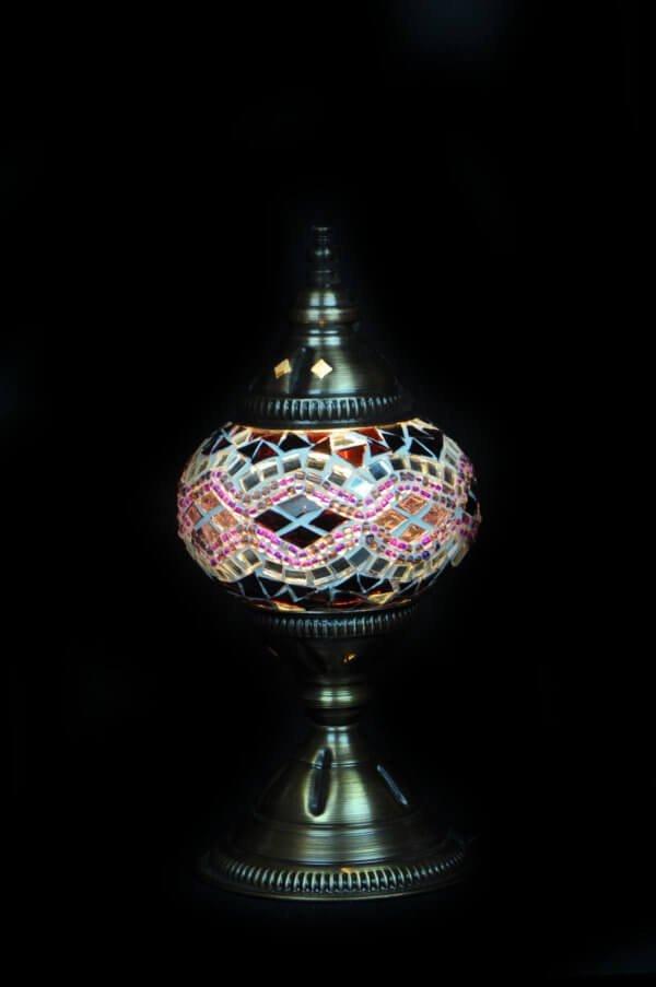 Türkische Tischlampe Lila