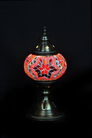 Türkische Tischlampe Rot