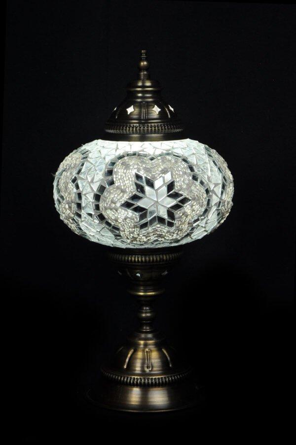 Türkische Tischlampe Weiss
