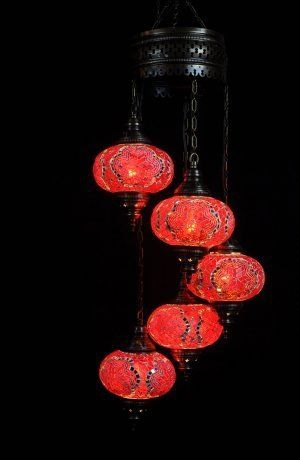 Orientalische Lampe Rot