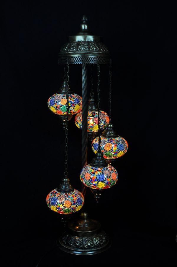 Orientalische Stehlampe 5 kugeln ALL COLOURS 1