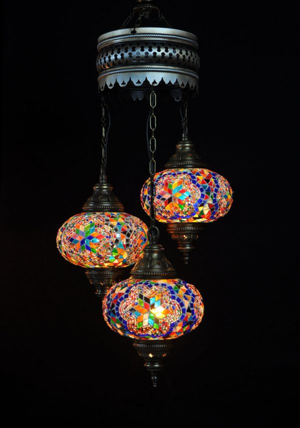 Türkische Lampe Multi-colour 3 Kugeln - Oriental Plaza