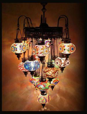 Türkische Lampe 16 kugeln Multicolour - Oriental Plaza