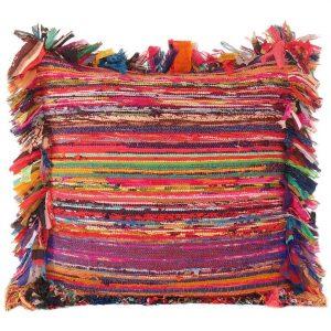 Kissen bohemian Ibiza Multicolour Rag Rug - Orientalplaza.de