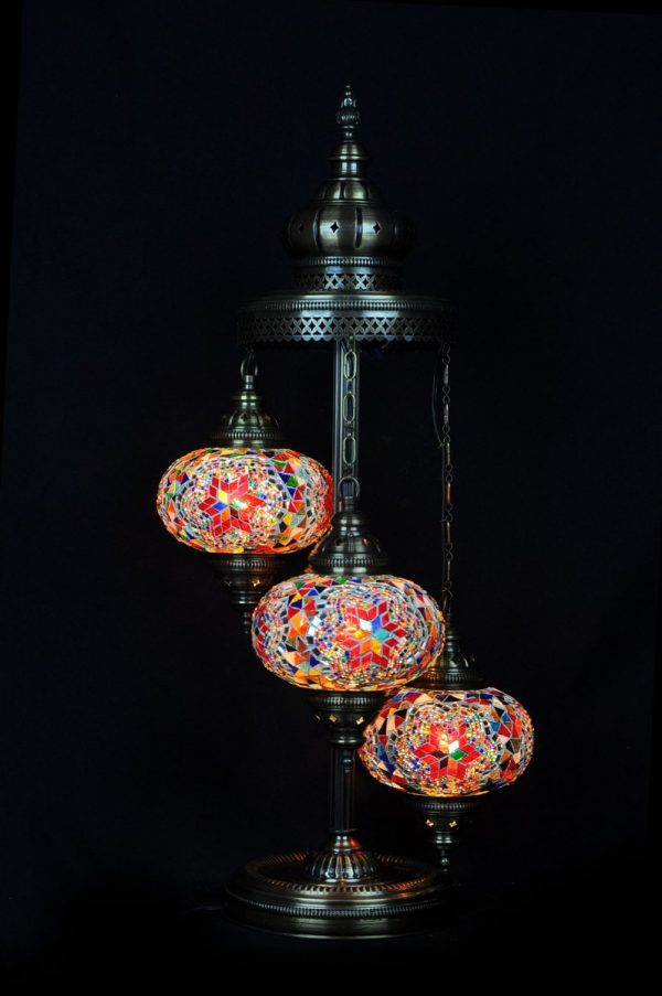 Orientalische Stehlampe Multi 3 kugeln/ Türkische Stehlampe Multi 3 kugeln - orientalplaza.de